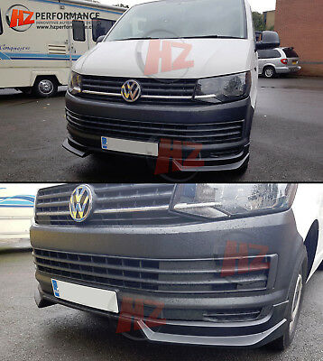 Vw Transporter T6 Hz Type Front Bumper Lip Splitter | New Hz Design | Uk Stock