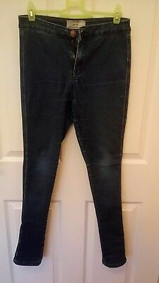 Girls NEW LOOK blue high rise skinny jeans age 14 years