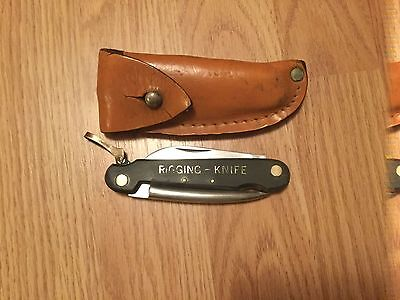 Vintage sailors Rigging knife with sheath made in Japan