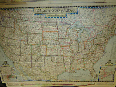 22 vintage maps of North America, National geographic.
