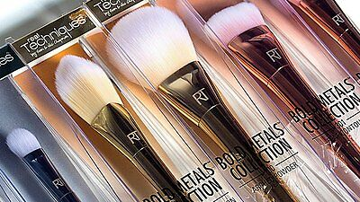 Real Techniques Bold Metals Collection Makeup Brushes - Select Your Choice
