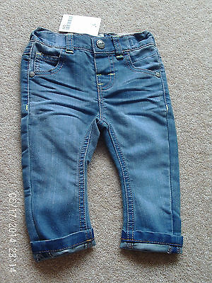 NEW!! Next Baby Girls Jeans Adjustable waist Age 6-9 months BNWT