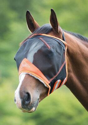 Shires Fine Mesh Earless Fly Mask Veil (6661) Black -Pony, Cob, Full, Extra Full