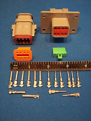 8-Way FLANGED Deutsch DT connector kit