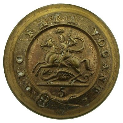 VICTORIAN 5th Regiment of Foot (Northumberland Fusiliers) Tunic Button 26mm WZ29