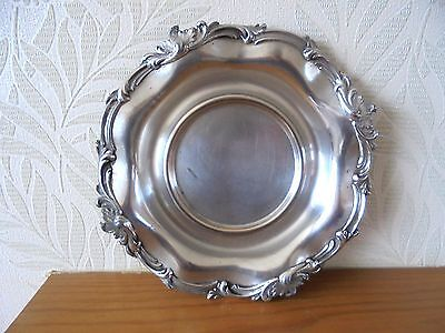 Vintage Silver Plated on Copper Wine Coaster