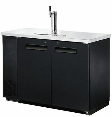 "New 49""  2 Keg Single Head Draft Beer Dispenser Direct Draw Cooler Free Shipping"