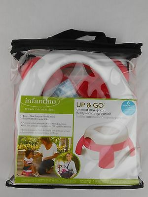 Infantino Up & Go Compact Travel Potty PINK Six Disposable Bags Included NEW