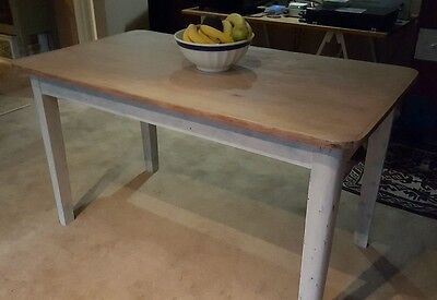 Kitchen dining table farm country mountain ash authentic 1950s solid timber.