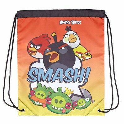 Official Angry Birds Drawstring Trainer Bag / Swimming Bag / School PE Bag