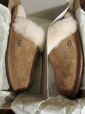 Women's Shoes UGG Scuffette II Slippers 5661 Chestnut Size 8 Brand New