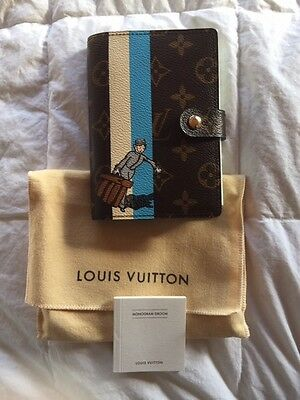 New/Unused LOUIS VUITTON Agenda PM notebook cover limited bellboy Monogram Blue