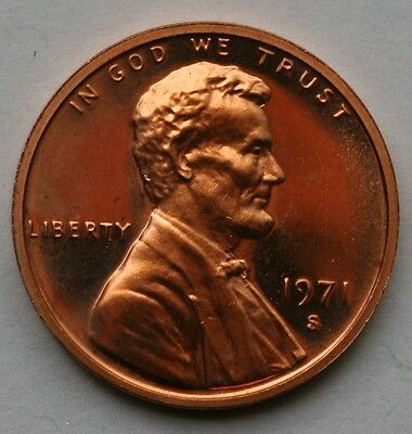 1971 S Lincoln Memorial Cent Gem Cameo Proof Penny US Coin