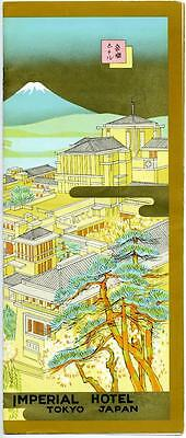 Imperial Hotel ~TOKYO JAPAN~ Gorgeous FRANK LLOYD WRIGHT Advertising Brochure