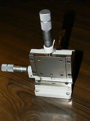 Line Tool XYZ Stage with 3 Micrometers in Excellent Condition Newport Thorlabs