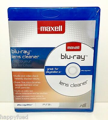 Maxell Blu-Ray Lens Cleaner PS3 Blu Ray Disc Super Fine Micro Brushes 190054 NEW