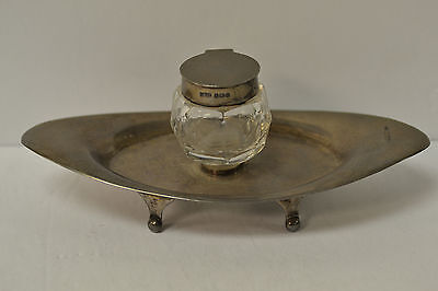 England Sterling Birmingham & Chester Mixed Matched Inwell & Footed Stand 1902