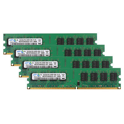 Samsung (4X1GB) PC2-6400 DDR2 800Mhz NON-ECC 240pin Desktop Memory For Intel