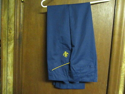 Cub Scout Pants 1950-60s Yellow Piping on Pockets,  waist 28  cu88