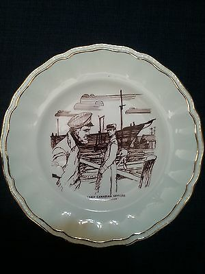 """Early Canadian Settlers """"The Shipbuilder"""" Decorative plate decorated in Canada"""