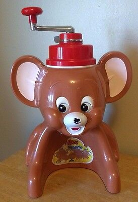 Vintage Tom and Jerry Ice Shaver snow cone Machine Japan Toy Tiger MGM Japanese
