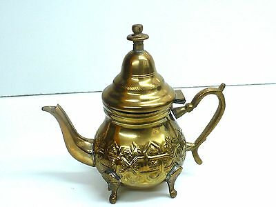 Antique Brass Pitcher / Pot Arabic Middle Eastern- Signed - Free Shipping