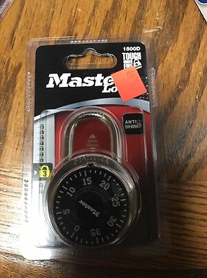 Stainless Steel Combination Padlock,No 1500D,  Master Lock Co