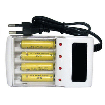 AC 4Port Safe Rechargeable Charger Dock EU Plug For AA/AAA Battery Duarble