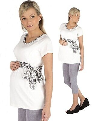 New Maternity Short Sleeved Top Blouse T-shirt Pregnancy Clothing Wear Size 8-18