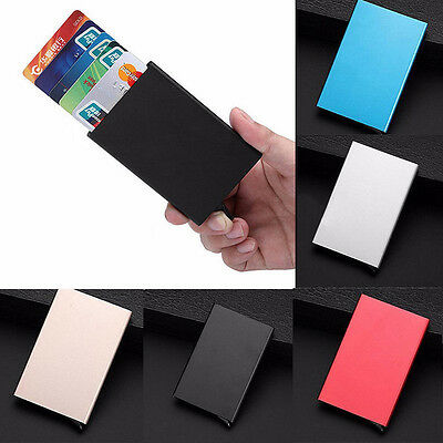 AU RFID Blocking Aluminum Slim Wallet ID Credit Card Holder Case Protector Purse