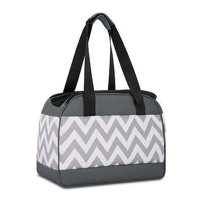 Pet Carrier - Portable and Soft - Small Dogs & Cats - Grey & White