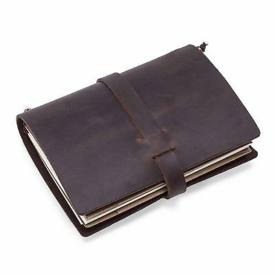 Leather Cover Notebook Blank Handmade Diaries Gift Book Journal Travel Notepad