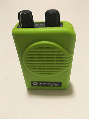 MOTOROLA MINITOR V 5 UHF PAGERS 450-458 MHz 2-FREQ NON-STORED VOICE APEX GREEN
