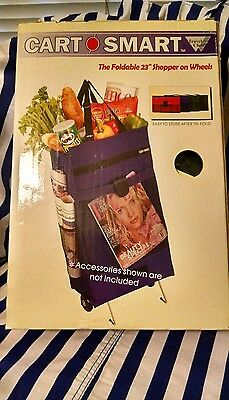Folding Foldable Shopping Trolley Bag Cart Rolling Wheel Grocery Tote