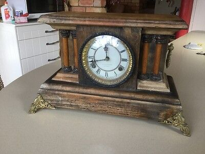antique clock in working condition ,A Saunders Sydney ,refurbished