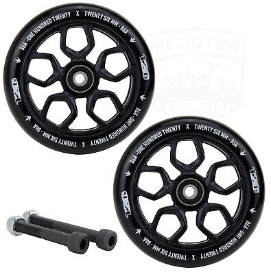 Envy Lambo 120mm Black Scooter Wheels Free Axles and Bearings