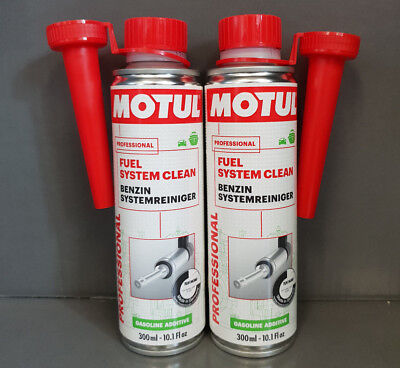 2 x MOTUL FUEL SYSTEM CLEAN PETROL FUEL SYSTEM CLEANERS 300ml ####
