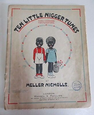 Ten Little African American Tunes - Antique Piano Music - Heller Nicholls - 1928