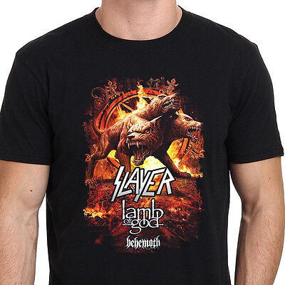 Slayer Lamb Of God Behemoth Tour Band Tee T-shirt New Men's Tshirt Size S to 3XL