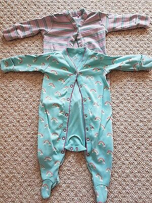 2 Next Sleepsuits Up to 3 Months