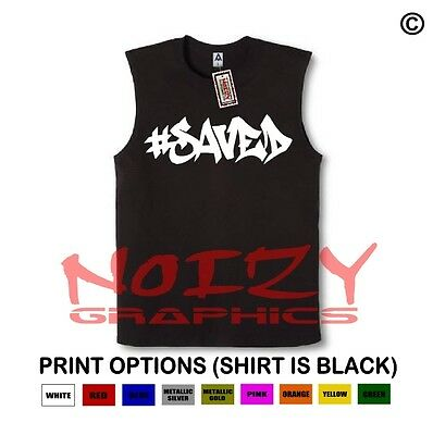 Saved #5 Christian SLEEVELESS Shirt Jesus Religious Muscle Tee Hip Hop Blessed