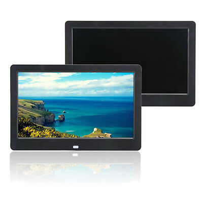 """10"""" inch HD TFT Digital Photo Frame Picture MP4 MP3 Player + Control Black"""