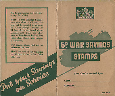 Australia war savings BOOKLET GREEN fine condition