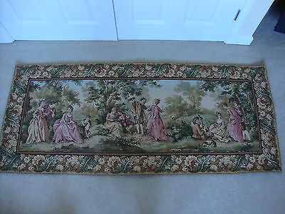 Vintage Large Woven Rectangular lined Wall Hanging 60'' x 26'' VGC