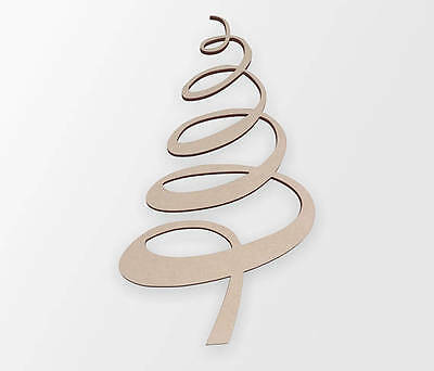 Wooden Shape Whimsical Christmas Tree, Wooden Cut Out, Wall Art, Home Decor