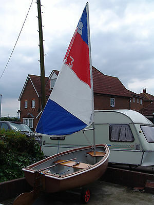 sailing dingy with road trailer/and launch trolly price reduced