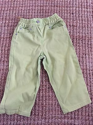 Baby Girl Mothercare Lime Green Trousers / Jeans 12-18 Months