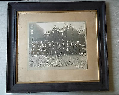 Historical Mens Committee Photograph Harrogate Yorkshire 1934 Vintage Wood Frame