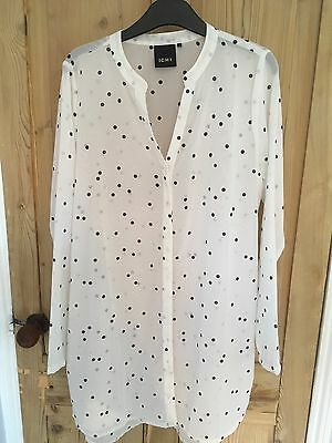 ICHI Black And White Spotted Top Size 38 (12/14)