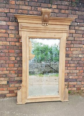 Antique French mirror huge solid Oak frame mercury glass dated 1909 Stunning